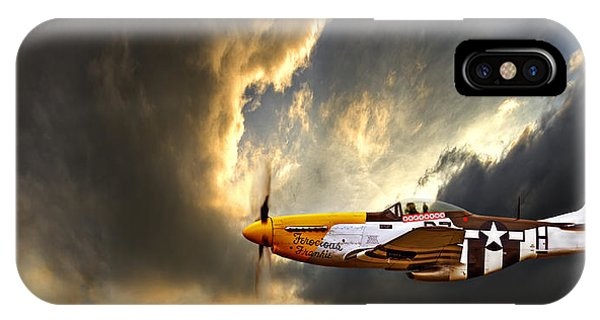 Airplane iPhone Case - Ferocious Frankie by Meirion Matthias