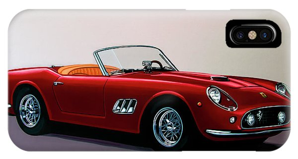Elegant iPhone Case - Ferrari 250 Gt California Spyder 1957 Painting by Paul Meijering