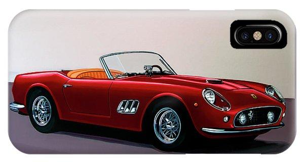 Ferrari 250 Gt California Spyder 1957 Painting IPhone Case