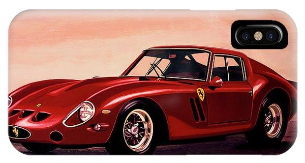 Oldtimer iPhone Case - Ferrari 250 Gto 1962 Painting by Paul Meijering
