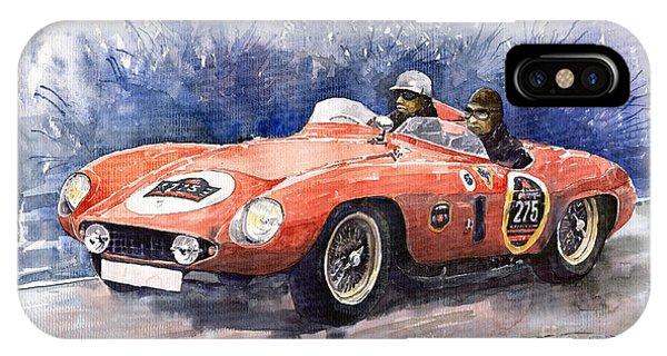 Auto iPhone Case - 1953-1955 Ferrari 500 Mondial 1000 Miglia by Yuriy Shevchuk