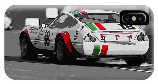 Ferrari Daytona 365 Gtb4 - Italian Flag Livery Phone Case by Andrea Mazzocchetti