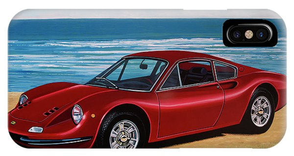 Oldtimer iPhone Case - Ferrari Dino 246 Gt 1969 Painting by Paul Meijering