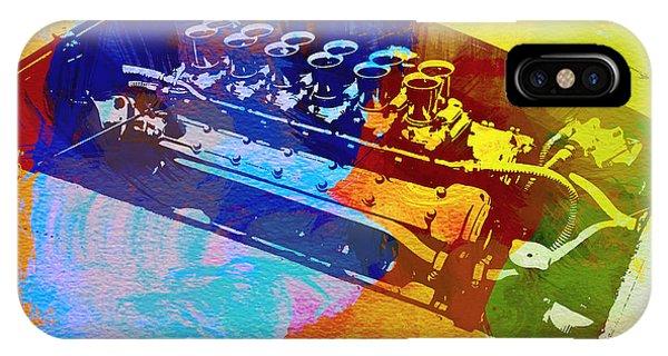 Ferrari Engine Watercolor IPhone Case