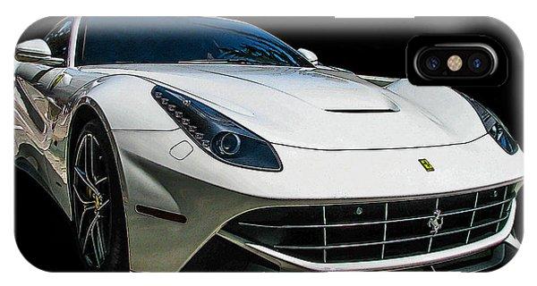 Ferrari F12 Berlinetta In White IPhone Case
