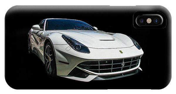 Ferrari F12 Berlinetta In White IPhone Case