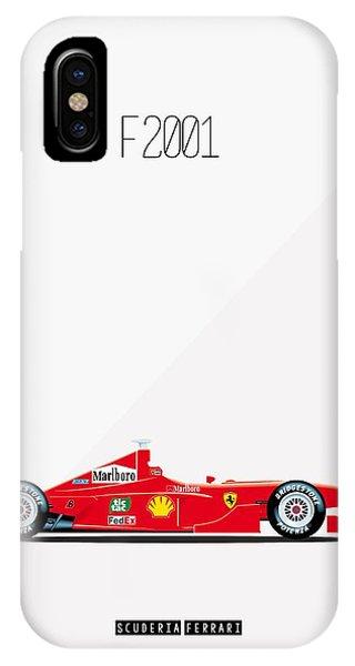 Ferrari F2001 F1 Poster IPhone Case