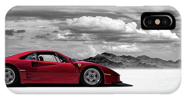 Red iPhone X Case - Ferrari F40 by Douglas Pittman