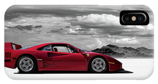Red iPhone Case - Ferrari F40 by Douglas Pittman
