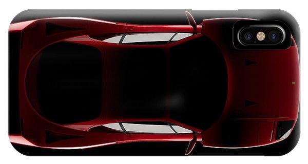 Ferrari F40 - Top View IPhone Case