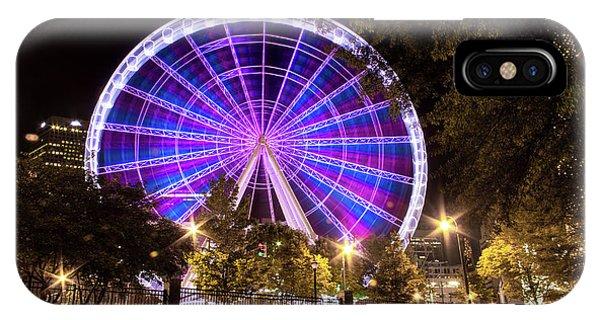 Ferris Wheel At Centennial Park 1 IPhone Case