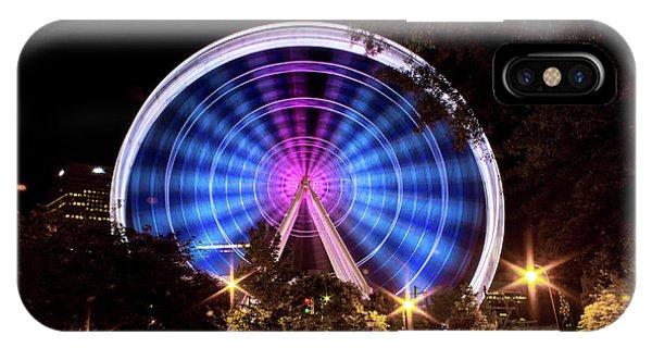 Ferris Wheel At Centennial Park 2 IPhone Case