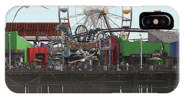 Ferris Wheel At Santa Monica Pier IPhone Case