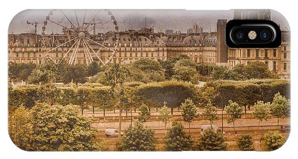 Paris, France - Ferris Wheel IPhone Case