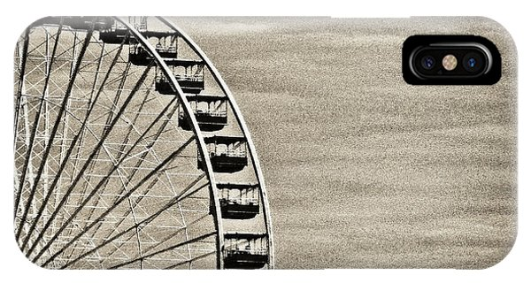 Ferris Wheel In Sepia IPhone Case