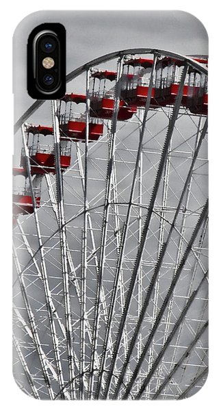 Ferris Wheel With Red Chairs IPhone Case