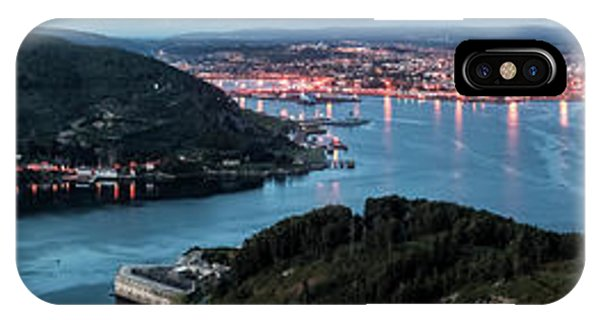 Ferrol's Estuary Panorama From La Bailadora Galicia Spain IPhone Case