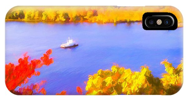 Ferry Crossing Connecticut River. IPhone Case