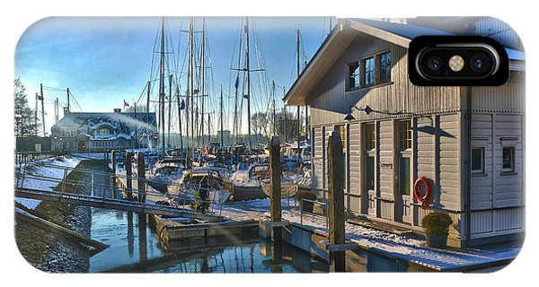 Ferry Harbour In Winter IPhone Case