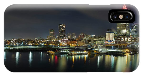 Ferry Terminal In Vancouver Bc At Night IPhone Case