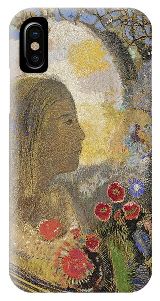 Impressionistic iPhone Case - Fertility. Woman In Flowers by Odilon Redon