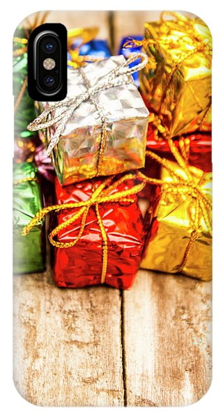Present iPhone Case - Festive Greeting Gifts by Jorgo Photography - Wall Art Gallery