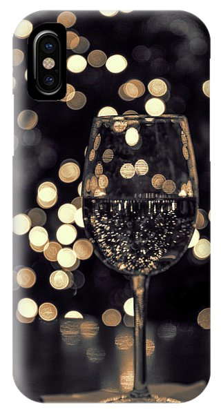 IPhone Case featuring the photograph Festive White Wine by Steven Sparks
