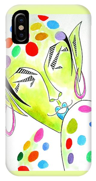 Fey -- The Original -- Fantasy Elf Portrait With Polka Dots IPhone Case