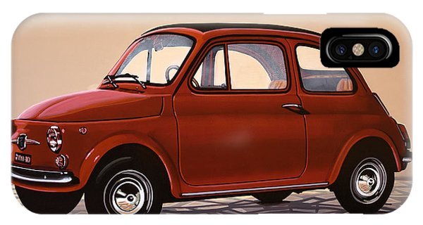 Oldtimer iPhone Case - Fiat 500 1957 Painting by Paul Meijering