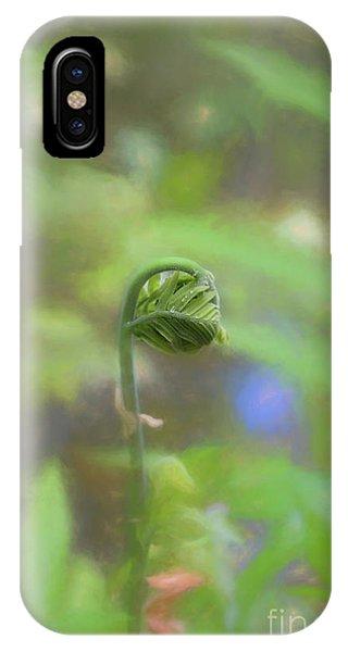 Fiddlehead Fern - Macro IPhone Case