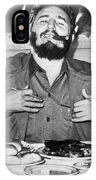 Prime Minister iPhone Case - Fidel Castro In New York by Underwood Archives