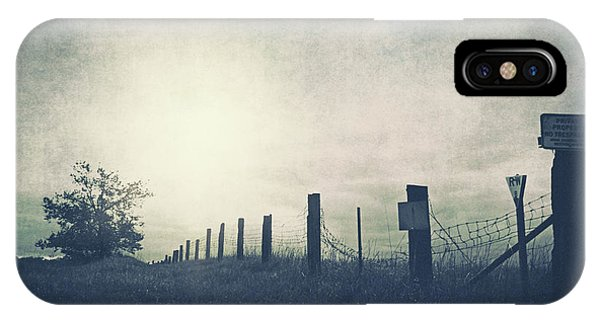 Field Beyond The Fence IPhone Case