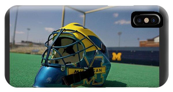 Field Hockey Helmet IPhone Case