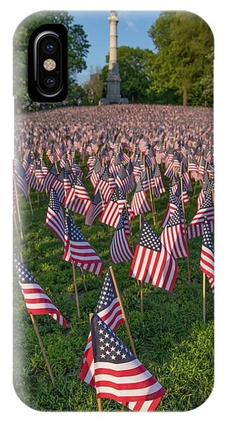 Field Of Flags At Boston's Soldiers And Sailors Monument IPhone Case