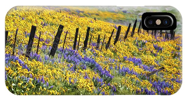 Field Of Gold And Purple IPhone Case