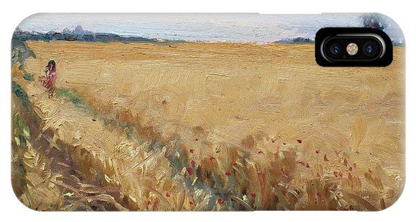 Georgetown iPhone Case - Field Of Grain In Georgetown On by Ylli Haruni