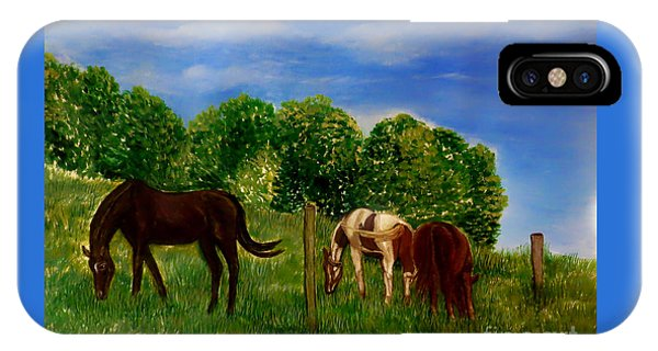 Field Of Horses' Dreams IPhone Case