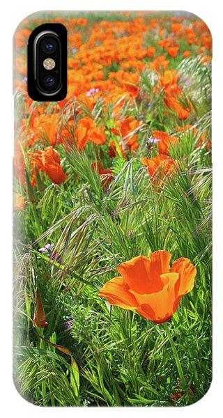 Floral iPhone Case - Field Of Orange Poppies- Art By Linda Woods by Linda Woods