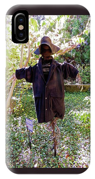 Field Watcher Scarecrow At Cheekwood Botanical Gardens IPhone Case