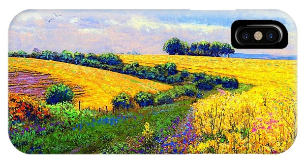 iPhone Case - Fields Of Gold by Jane Small