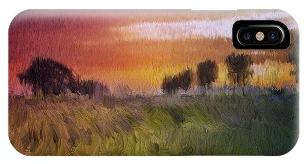 IPhone Case featuring the painting Fields Of Green by Mark Taylor