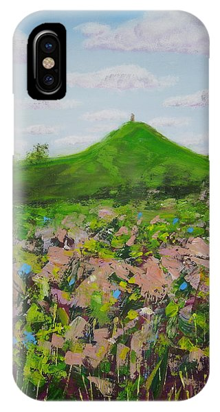 Fields To Glastonbury Tor IPhone Case