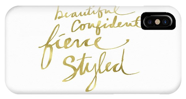 Old Fashioned iPhone Case - Fierce And Styled Gold- Art By Linda Woods by Linda Woods