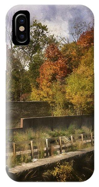 Ruin iPhone Case - Fiery Autumn by Scott Norris