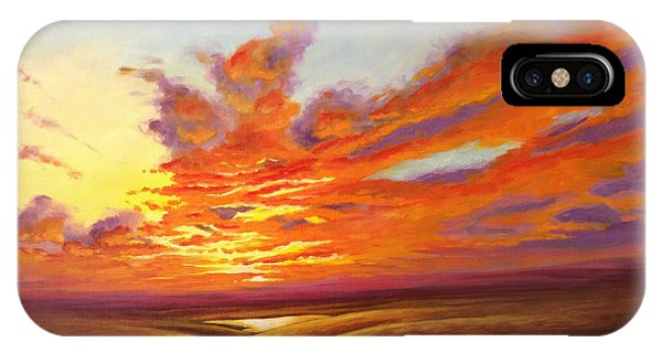 Fiery Flint Hills Sky IPhone Case
