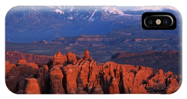 Fiery Furnace And La Sal Mountains IPhone Case