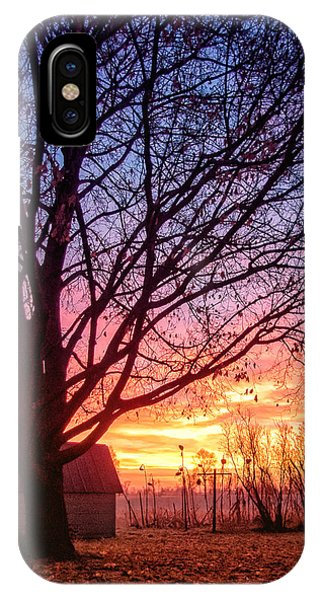 IPhone Case featuring the photograph Fiery Morning Sunrise by Lars Lentz