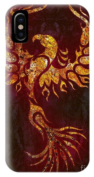 Fire Ball iPhone Case - Fiery Phoenix by Robert Ball