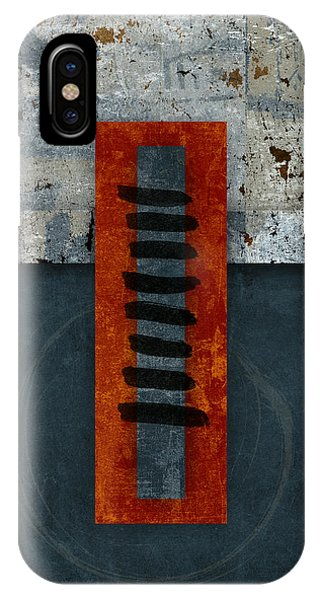 iPhone Case - Fiery Red And Indigo One Of Two by Carol Leigh