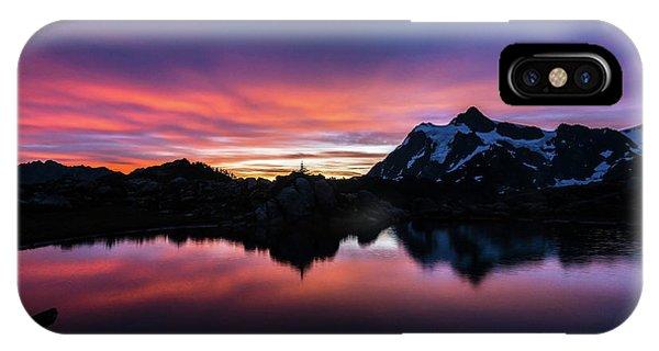 Fiery Shuksan Sunrise Reflection IPhone Case